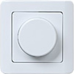 ВСРк10-1-0-ГБ Светорегулятор поворотный кнопочный  (белый)