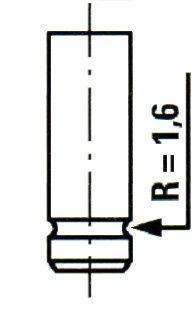 Выпускной клапан FIAT 131 (131_) / FIAT 132 (132_) / FIAT ARGENTA (132_) 1972-1998 г.