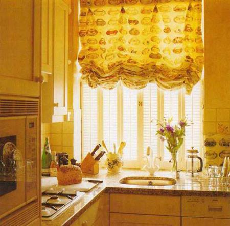Купить шторы на кухню