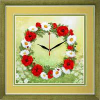 Набор для вышивки лентами Часы. Время цветов ЧНЛ-2004