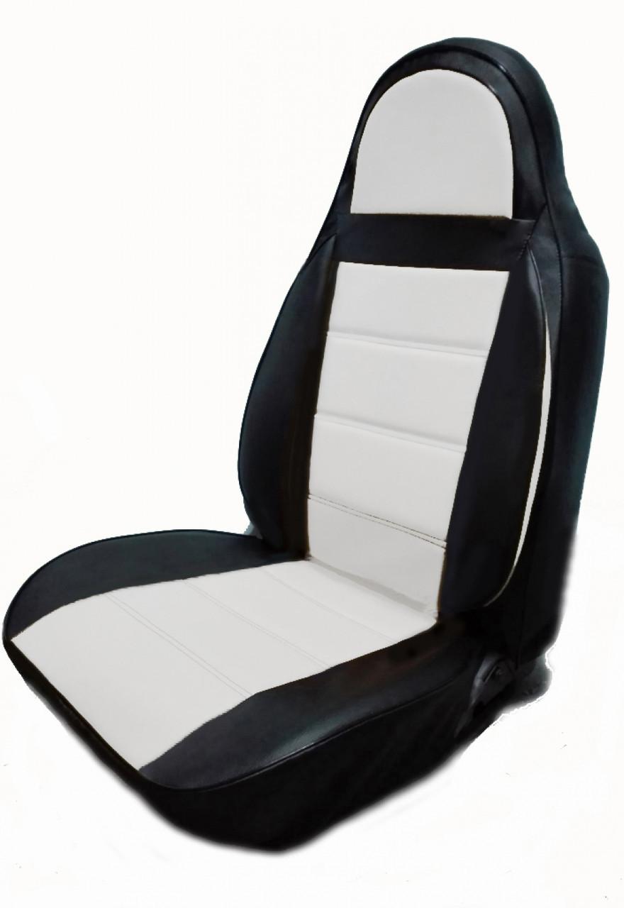 Чохли на сидіння Шевроле Ланос (Chevrolet Lanos) (модельні, кожзам, пілот)