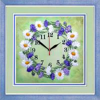 Набор для вышивки лентами Часы. Солнечный веночек ЧНЛ-2005