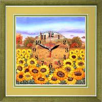 Набор для вышивки лентами Часы. Желтое поле подсолнухов ЧНЛ-2006