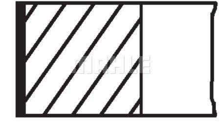 Комплект колец на поршень LANCIA Y (840_) / FIAT IDEA (350_) 1995-2013 г.