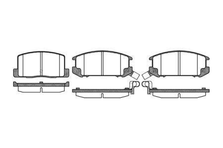 Тормозные колодки, к-кт. TOYOTA MR 2 I (AW1_) / TOYOTA MR 2 II (SW2_) 1984-2007 г.
