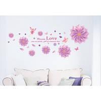 Интерьерная наклейка на стену Фея цветов mAM6004 50x120см