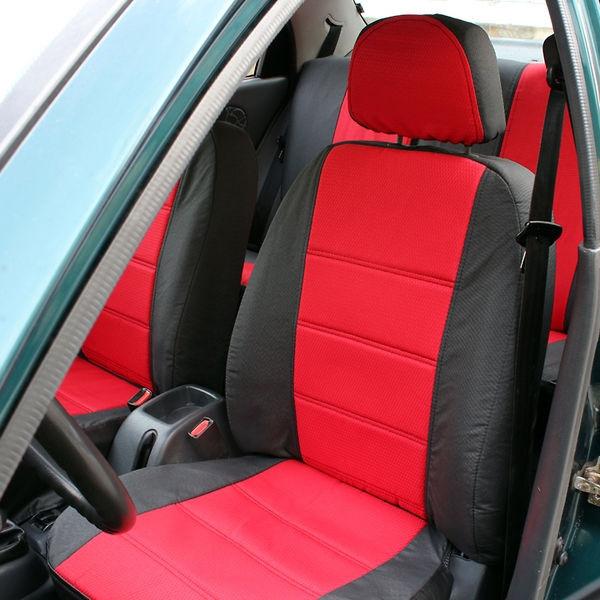 Чохли на сидіння Мітсубісі Кольт (Mitsubishi Colt) (універсальні, автоткань, з окремим підголовником)