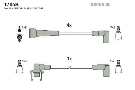 Комплект кабелей зажигания RENAULT 19 I (B/C53_) 1984-2003 г.