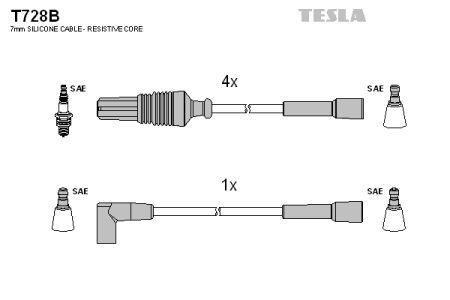 Комплект кабелей зажигания CITROEN ZX (N2) / CITROEN AX (ZA-_) 1982-2006 г.