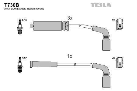 Комплект кабелей зажигания ZAZ CHANCE / ZAZ LANOS PICK-UP 1997-2008 г.
