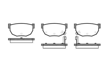 Тормозные колодки, к-кт. NISSAN 200 SX (S14) / NISSAN 300 ZX (Z31) 1980-1999 г.
