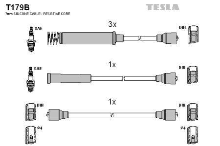 Комплект кабелей зажигания OPEL OMEGA A (V87) 1986-1994 г.
