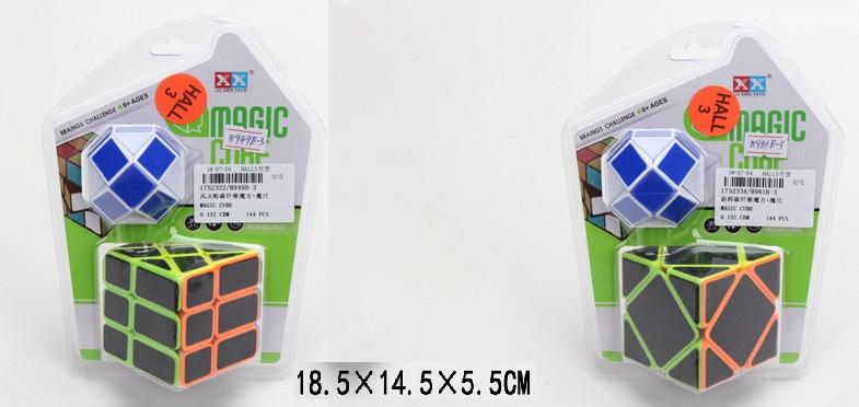 Кубик-логика 2 вида, кубик плюс логика-змейка,на блистере 18,5*14,5*5,5см /96-2/