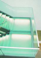 Стеклянные лестницы матовые