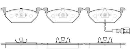 Тормозные колодки, к-кт. VW POLO (9N_) / AUDI A2 (8Z0) / VW BORA (1J2) / VW 1995-2019 г.