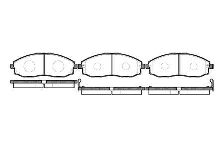Тормозные колодки, к-кт. JAC REFINE M3 / JAC REFINE M5 I / FENGXING LINGZHI 1993-2008 г.