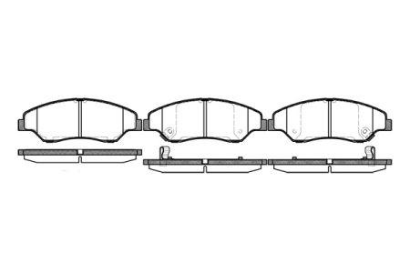 Тормозные колодки, к-кт. KIA RETONA (CE) / KIA SPORTAGE (K00) 1994-2005 г.