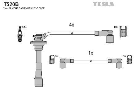 Комплект кабелей зажигания TOYOTA CARINA II (_T17_) 1987-1992 г.