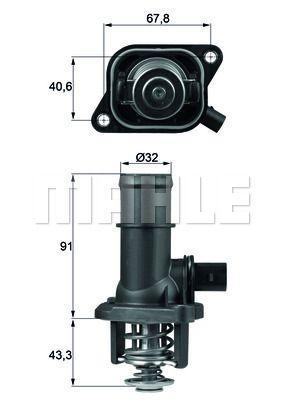 Термостат AUDI A3 (8L1) / VW BORA (1J2) / VW GOLF V (1K1) / VW GOLF IV (1J1) 1995-2013 г.