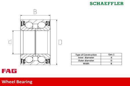 Подшипник ступицы колеса VW PASSAT (3B2) / VW PASSAT (3B3) / AUDI / VW 1994-2012 г.