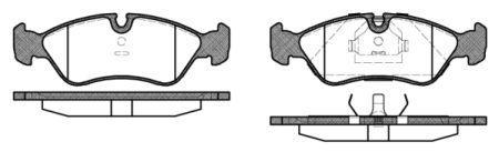 Тормозные колодки, к-кт. OPEL ASTRA F (T92) / OPEL OMEGA A (V87) 1984-2004 г.