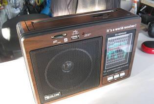 Радиоприемник Golon RX-9966UAR Чувствительный диапазон FM/TV/MW/SW+USB+Встроенный аккумулятор Питание AC/DC , фото 2