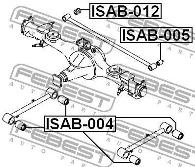 Сайлентблок тяги ISUZU TROOPER III / ISUZU TROOPER II (UB) 1991-2004 г.