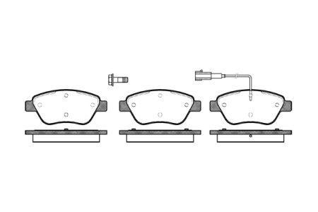 Тормозные колодки, к-кт. FIAT 500 (312_) / VW TIGUAN (AD1) / SEAT LEON (5F1) 1996-2018 г.