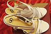 Белые нарядные босоножки шикарные 39 р стелька 25-26 см свадебная коллекция, фото 5