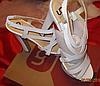 Белые нарядные босоножки шикарные 39 р стелька 25-26 см свадебная коллекция, фото 7