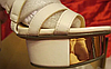Белые нарядные босоножки шикарные 39 р стелька 25-26 см свадебная коллекция, фото 2