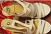 Белые нарядные босоножки шикарные 39 р стелька 25-26 см свадебная коллекция, фото 8