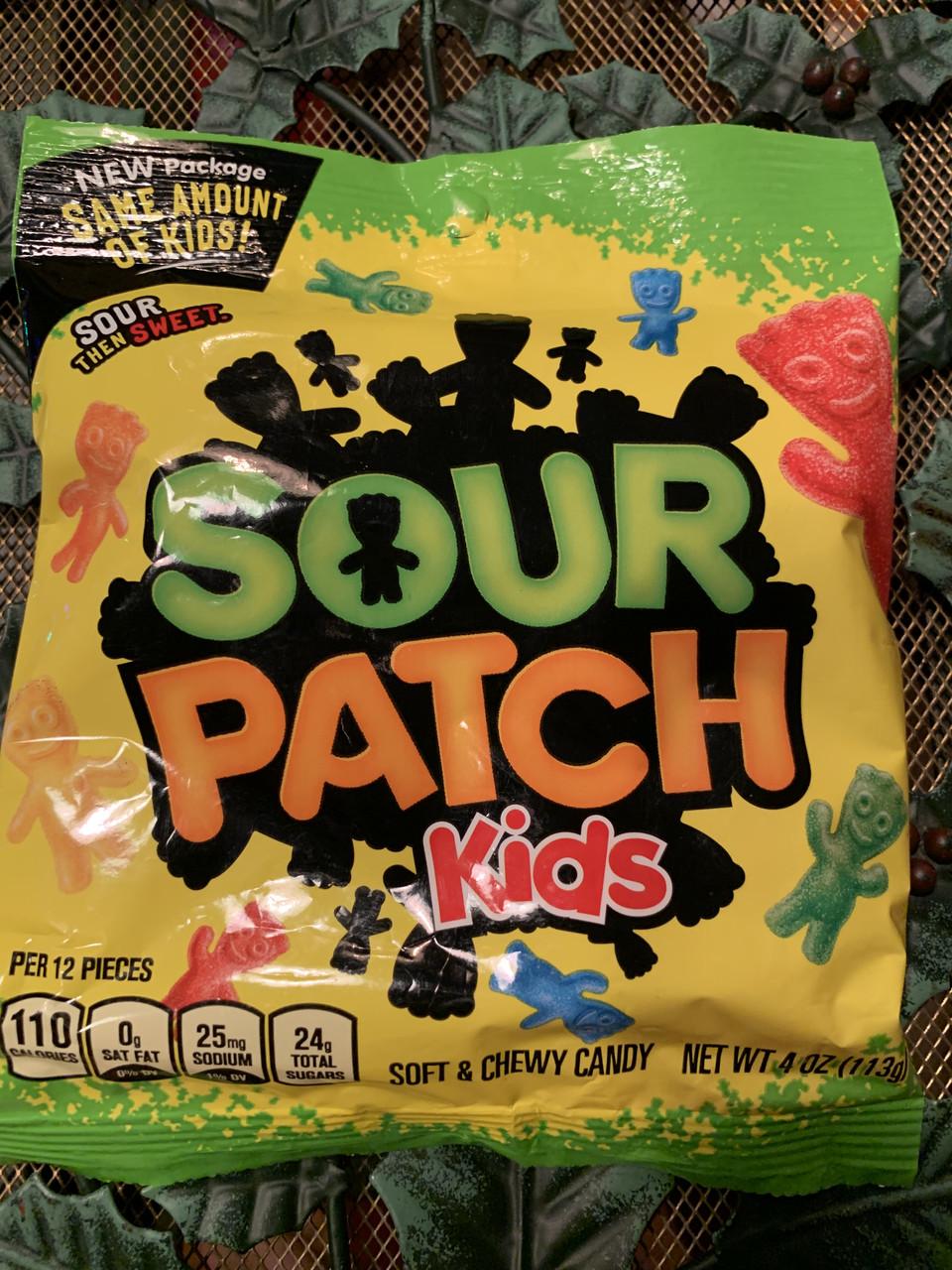 Кисло-сладкие конфеты Sour Patch Kids в форме человечков