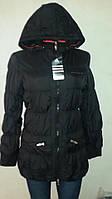 Куртка стёганная спортивная женская чёрная