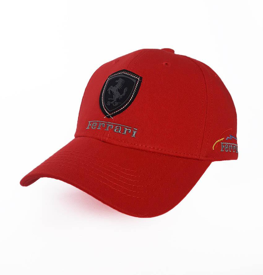 Бейсболка с логотипом авто Ferrari Sport Line - №3694