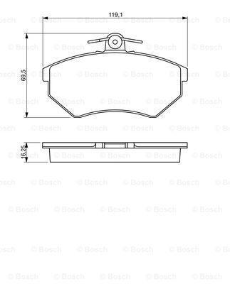 Тормозные колодки к-кт. SEAT INCA (6K9) / SEAT IBIZA II (6K1) 1993-2003 г.