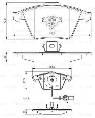 Тормозные колодки к-кт. AUDI A8 (4E2, 4E8) 2002-2010 г.