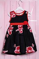 Нарядное платье без рукава для девочки , хлопок Gymboree 104(см) Чёрный-Розовый микс (56422)