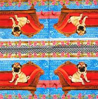 Декупажные салфетки пёс на диване 1965
