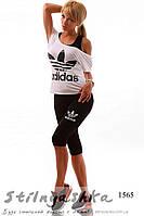 Женский черный костюм Адидас тройка , фото 1