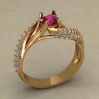 Женские кольца,золо
