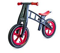 Беговел Balance Trike пластиковый колеса надувные 12 черно-красный