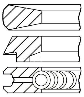 Комплект колец на поршень MULTICAR M26 / MULTICAR Fumo 1983-2013 г.