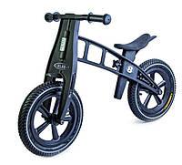 Беговел для детей от 2 3 4 лет Balance Trike пластиковый колеса надувные 12 черный