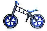 Беговел Balance Trike пластиковый колеса надувные 12 синий, фото 2