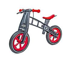 Беговел Balance Trike пластиковый колеса надувные 12 с тормозом черно-красный