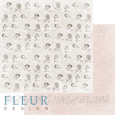 """Лист бумаги для скрапбукинга """"Моменты"""", коллекция """"Наш малыш Девочка"""", 30х30, плотность 190 гр."""