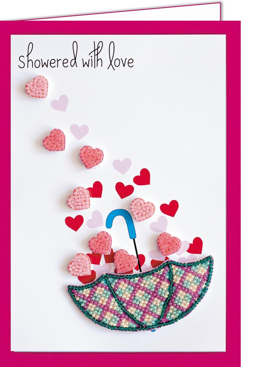 Набор - открытка 3D для вышивки бисером  Дождь любви