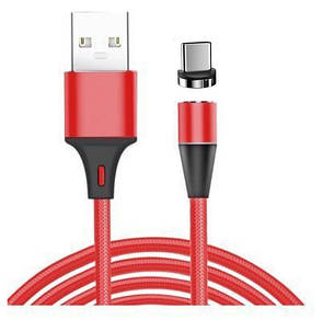 Кабель Fabric Magnetic USB to Type-C 1m (red)