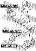 Подушка двигателя левая MITSUBISHI OUTLANDER I (CU_W) 1999-2008 г.